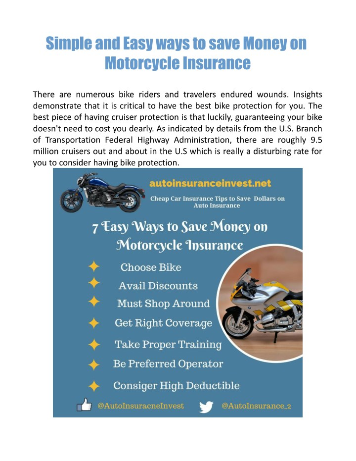 simple and easy ways to save money on motorcycle n.