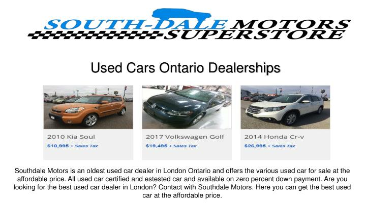 used cars ontario dealerships n.