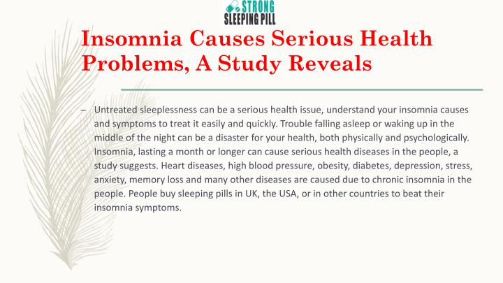 insomnia causes serious health problems a study reveals n.