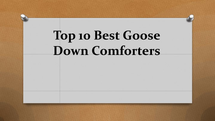 top 10 best goose down comforters n.