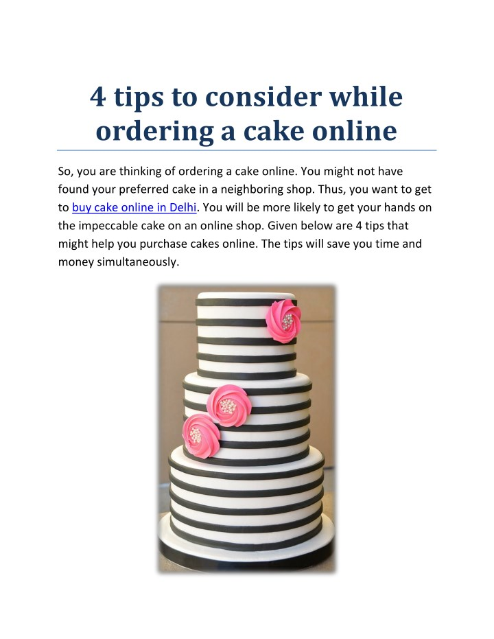 4 tips to consider while ordering a cake online n.