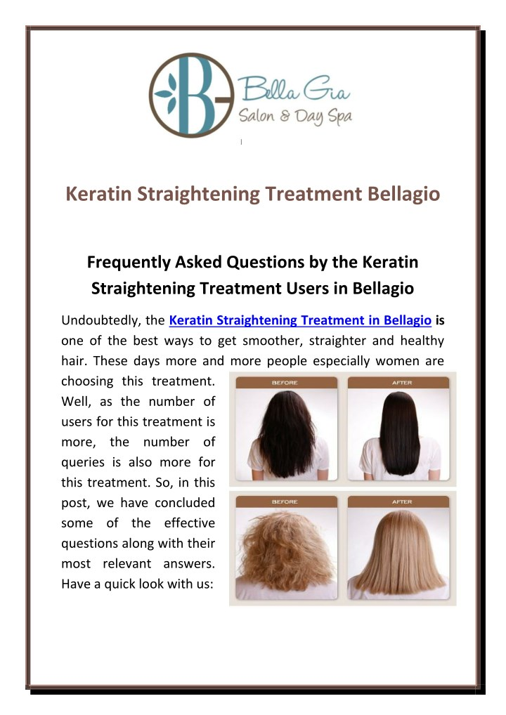 keratin straightening treatment bellagio n.