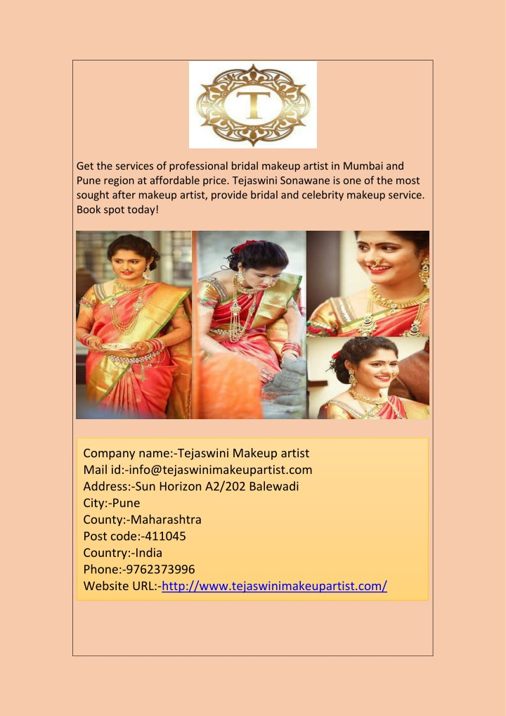 get the services of professional bridal makeup n.