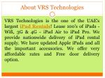 about vrs technologies