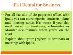ipad rental for business
