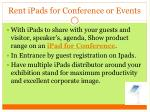 rent ipads for conference or events