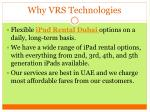 why vrs technologies