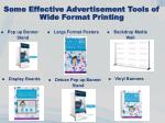 some effective advertisement tools of wide format printing