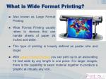 what is wide format printing