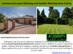 commercial lawn mowing and garden maintenance