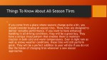 things to know about all season tires 1