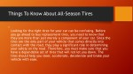 things to know about all season tires
