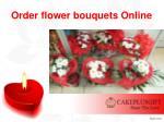 order flower bouquets online