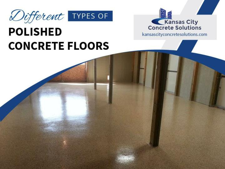 different types of polished concrete floors n.