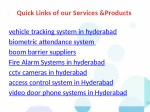 quick links of our services products 1