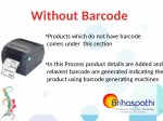 without barcode
