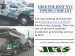 hire the best nyc towing company