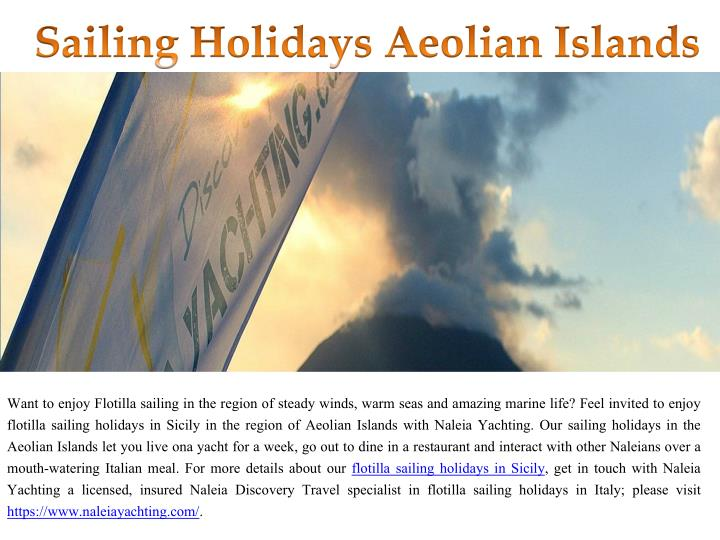 sailing holidays aeolian islands n.