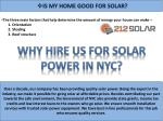 is my home good for solar