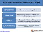 solar panel installation here is how it works
