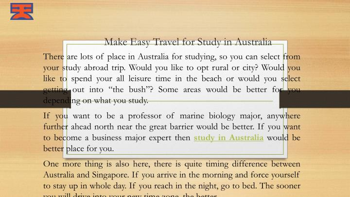 make easy travel for study in australia n.