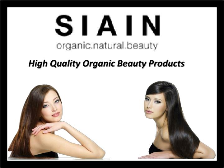 high quality organic beauty products n.