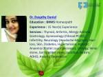 dr deepthy daniel education bhms homeopath