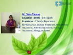 dr diana thomas education bhms homeopath