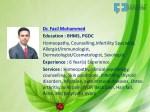 dr fasil mohammed education bhms pgdc homeopathy