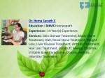 dr hema sanath c education bhms homeopath