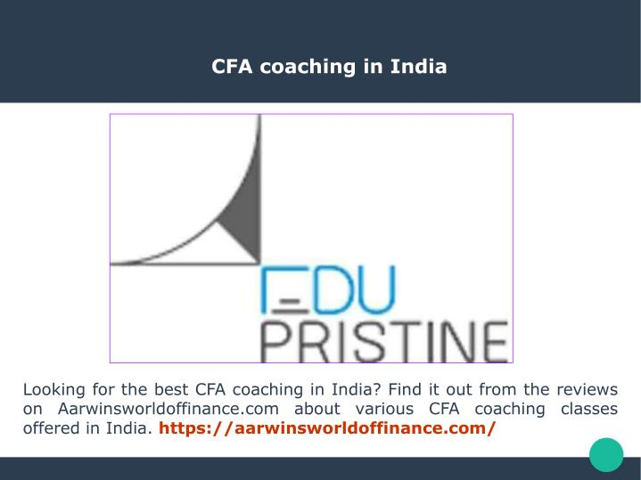 cfa coaching in india n.