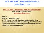 hcs 449 mart predictable world hcs449mart com 2