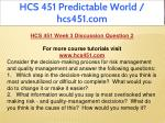 hcs 451 predictable world hcs451 com 12