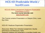 hcs 451 predictable world hcs451 com 14