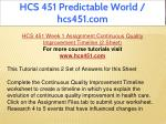hcs 451 predictable world hcs451 com 2