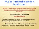 hcs 451 predictable world hcs451 com 5