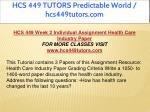 hcs 449 tutors predictable world hcs449tutors com 11