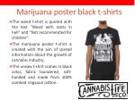 marijuana poster black t shirts