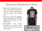 tax stamp marijuana t shirts