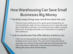 how warehousing can save small businesses