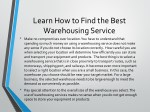 learn how to find the best warehousing service