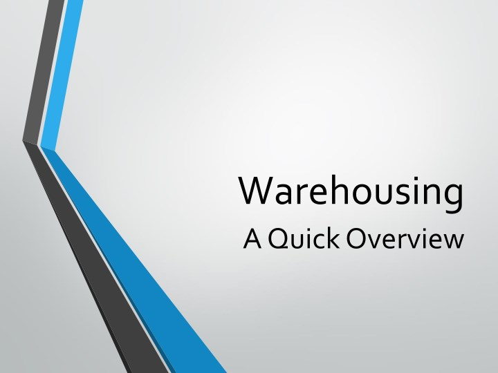 warehousing a quick overview n.