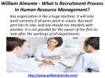 william almonte what is recruitment process in human resource management 1