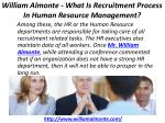 william almonte what is recruitment process in human resource management 2