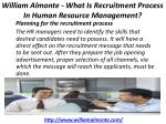 william almonte what is recruitment process in human resource management 4