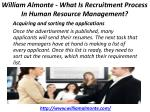 william almonte what is recruitment process in human resource management 5