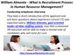 william almonte what is recruitment process in human resource management 6