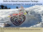 delhi to manali honeymoon package honeymoon package for manali and shimla