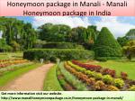 honeymoon package in manali manali honeymoon package in india