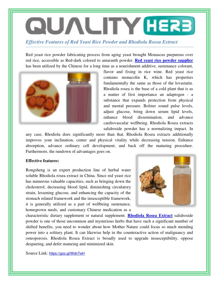 effective features of red yeast rice powder n.